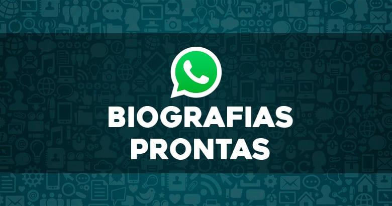 biografias prontas para whatsapp